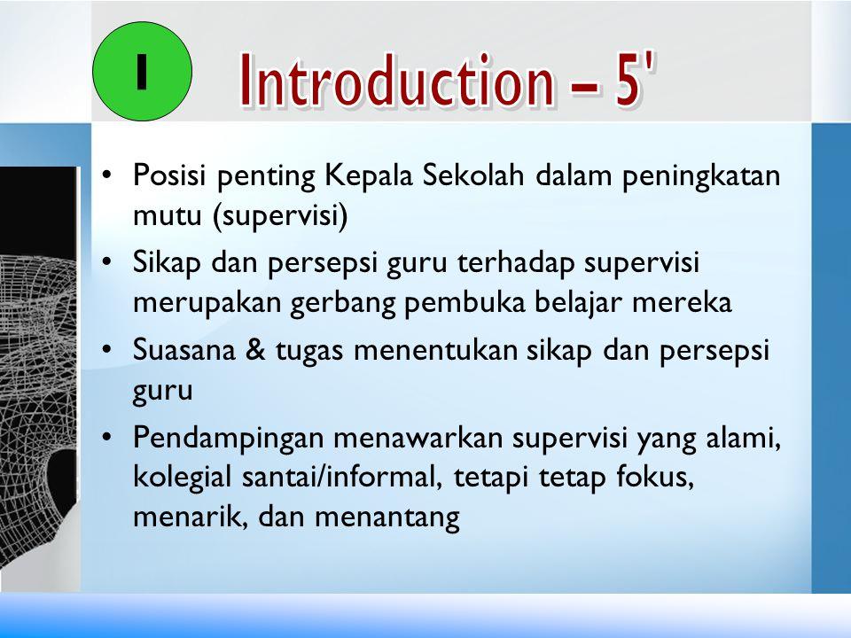 I Introduction – 5 Posisi penting Kepala Sekolah dalam peningkatan mutu (supervisi)