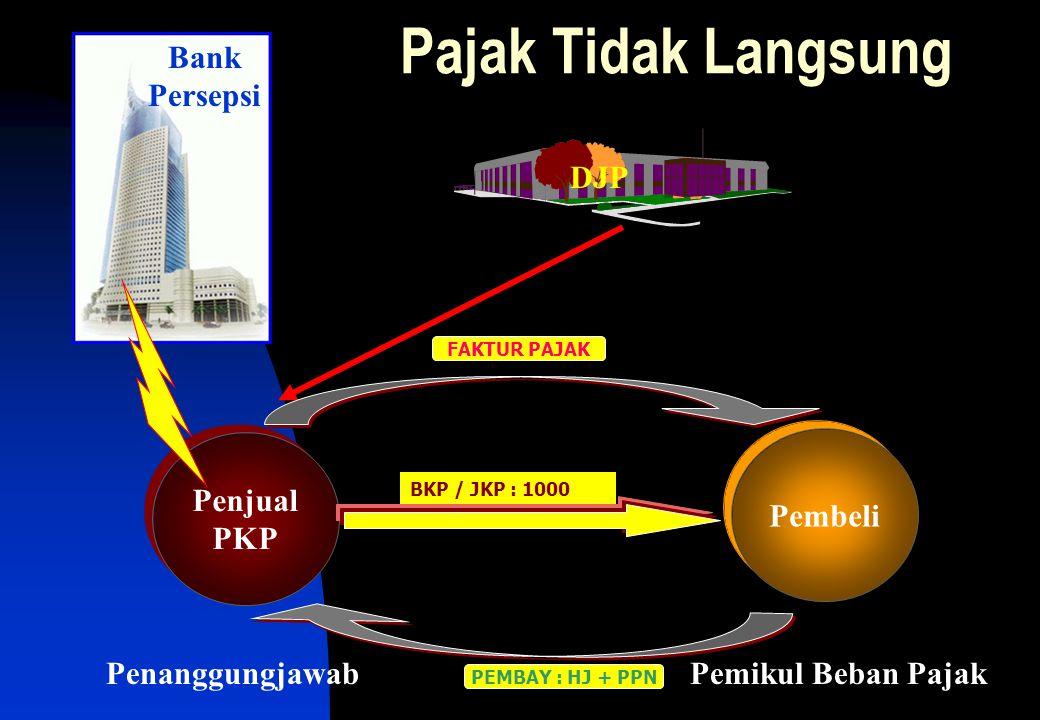 Pajak Tidak Langsung Bank Persepsi DJP Penjual PKP Pembeli