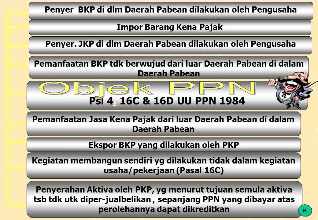 Penyer. BKP di dlm Daerah Pabean dilakukan oleh Pengusaha