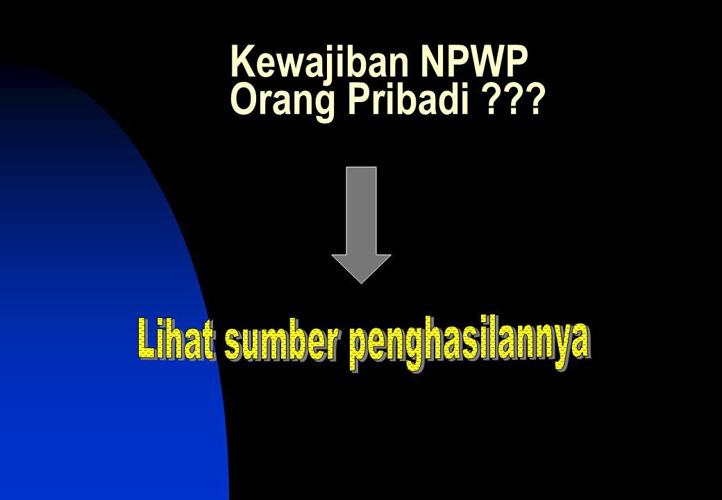 Kewajiban NPWP Orang Pribadi