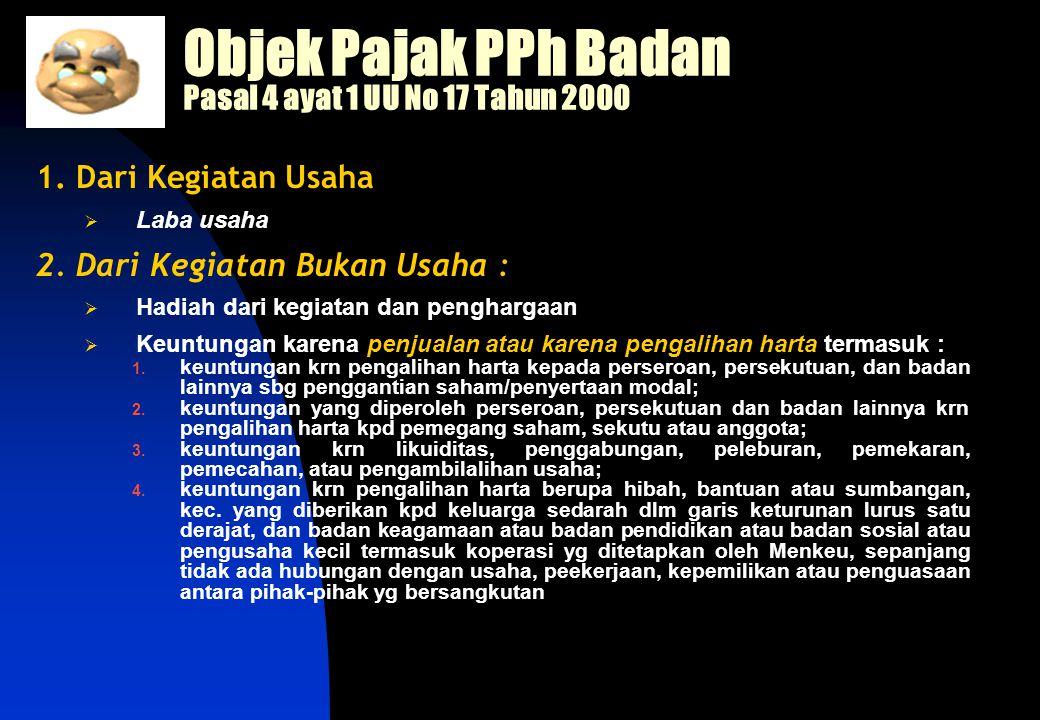 Objek Pajak PPh Badan Pasal 4 ayat 1 UU No 17 Tahun 2000