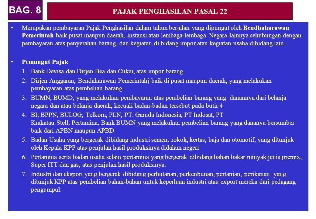 PAJAK PENGHASILAN PASAL 22