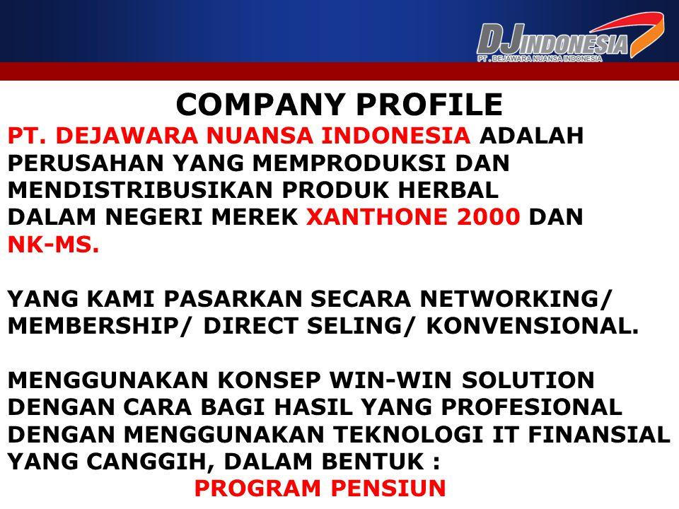 COMPANY PROFILE PT. DEJAWARA NUANSA INDONESIA ADALAH
