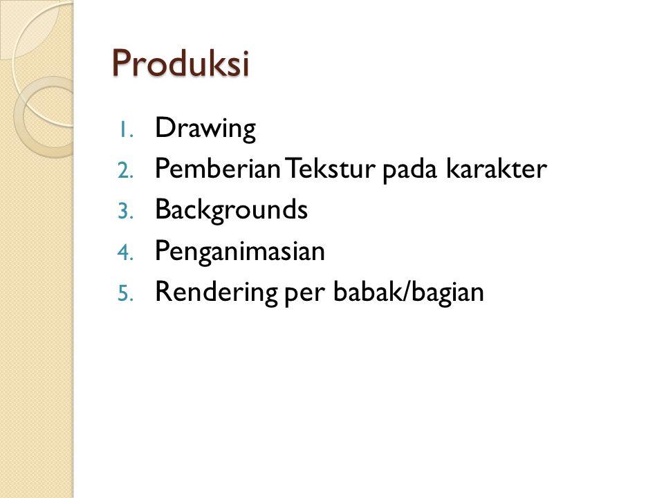 Produksi Drawing Pemberian Tekstur pada karakter Backgrounds
