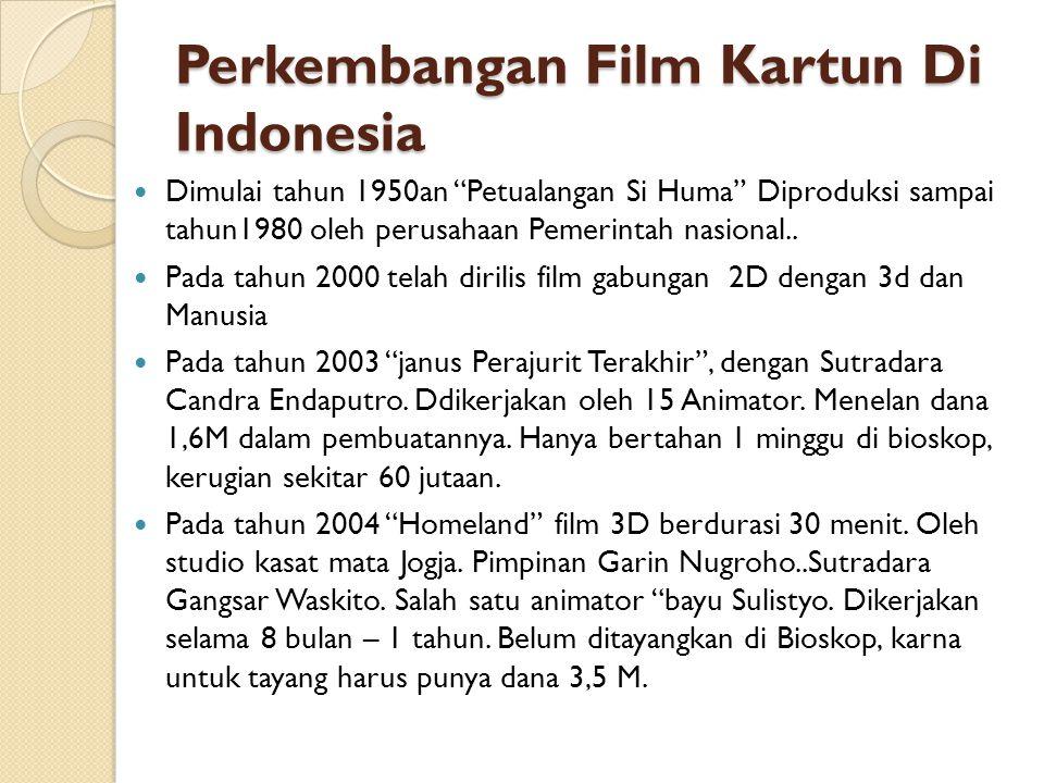 Perkembangan Film Kartun Di Indonesia