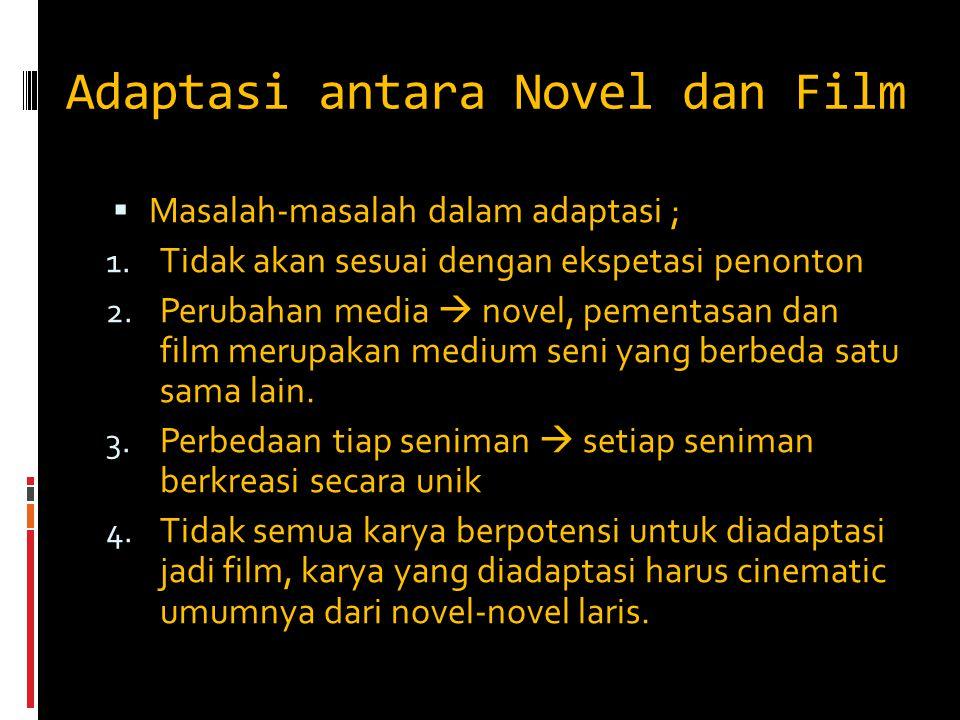 Adaptasi antara Novel dan Film