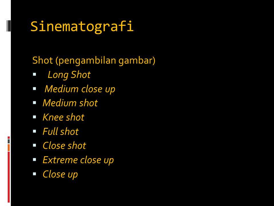 Sinematografi Shot (pengambilan gambar) Long Shot Medium close up