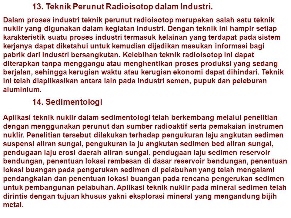 13. Teknik Perunut Radioisotop dalam Industri.