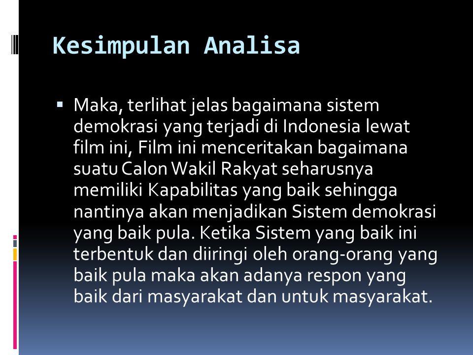 Kesimpulan Analisa