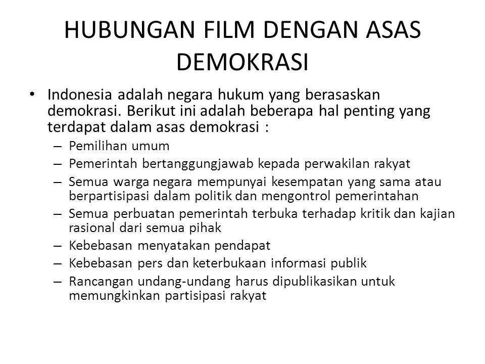 HUBUNGAN FILM DENGAN ASAS DEMOKRASI