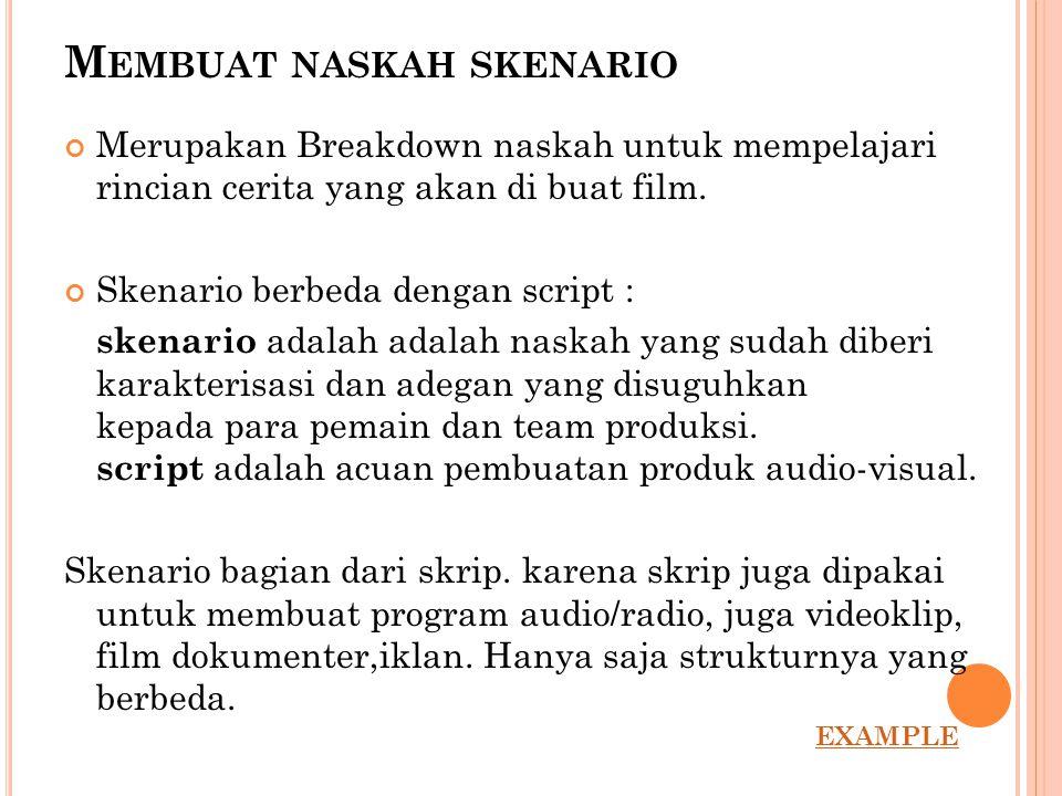 Membuat naskah skenario