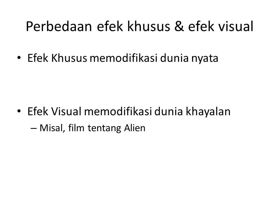 Perbedaan efek khusus & efek visual