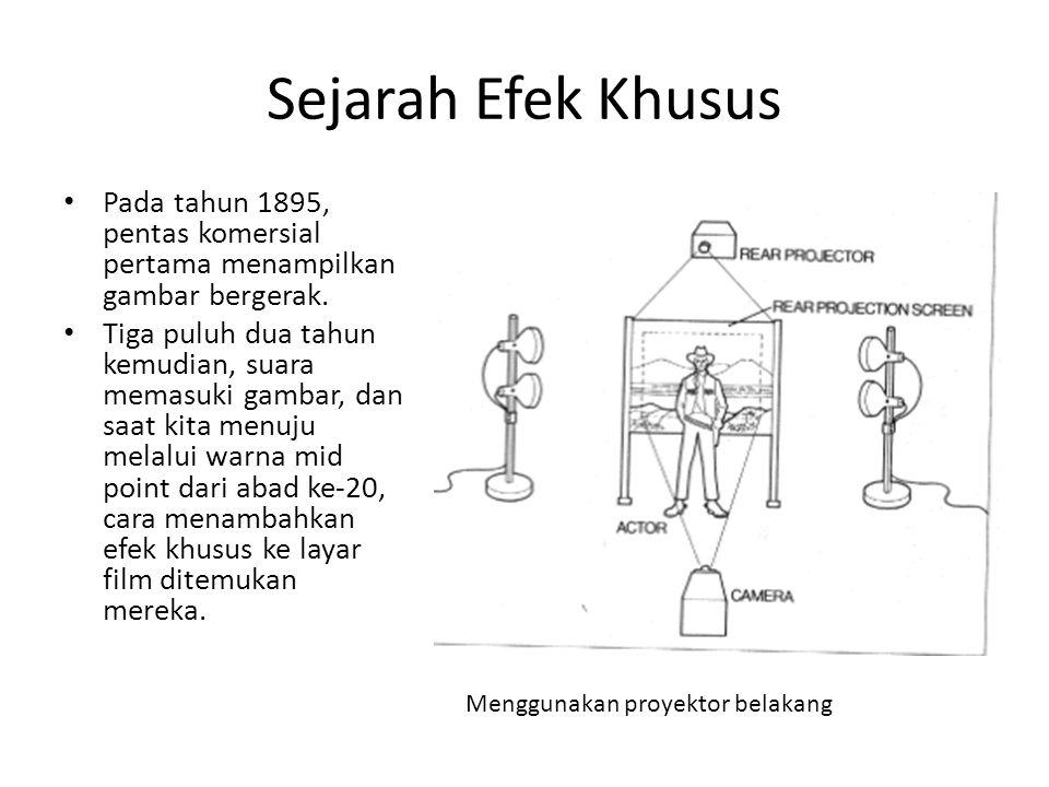 Sejarah Efek Khusus Pada tahun 1895, pentas komersial pertama menampilkan gambar bergerak.