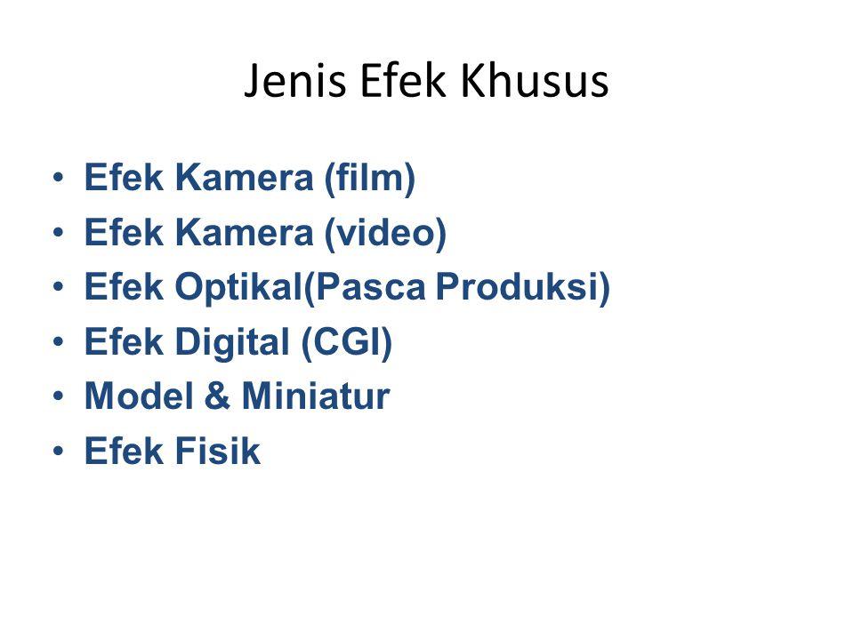Jenis Efek Khusus Efek Kamera (film) Efek Kamera (video)