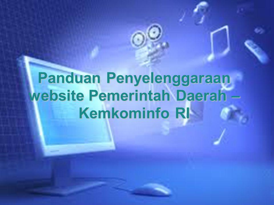 Panduan Penyelenggaraan website Pemerintah Daerah – Kemkominfo RI
