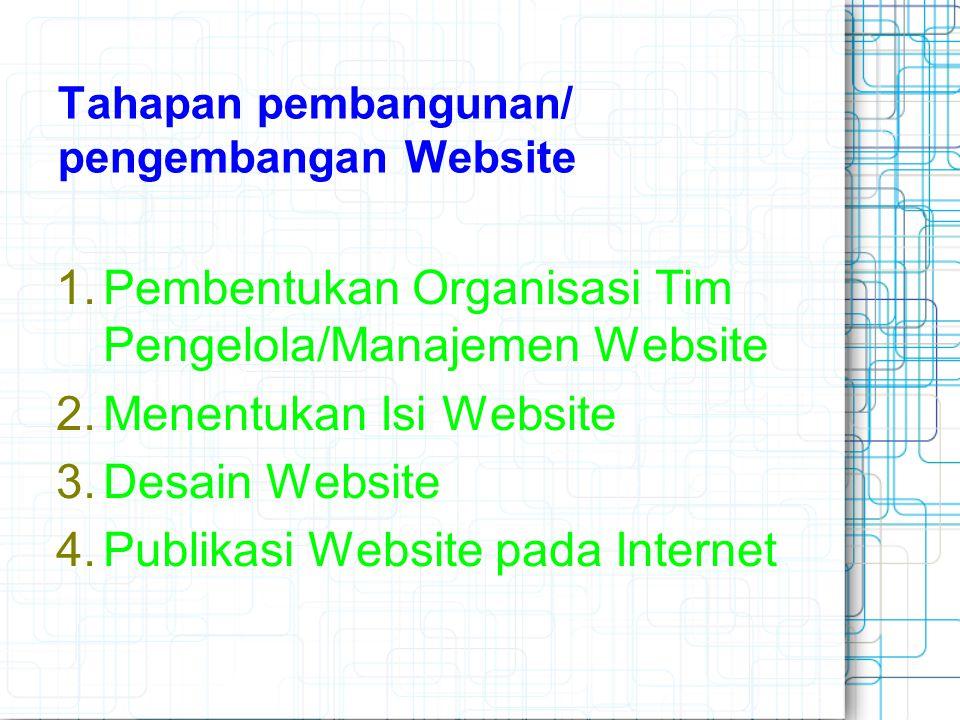 Tahapan pembangunan/ pengembangan Website