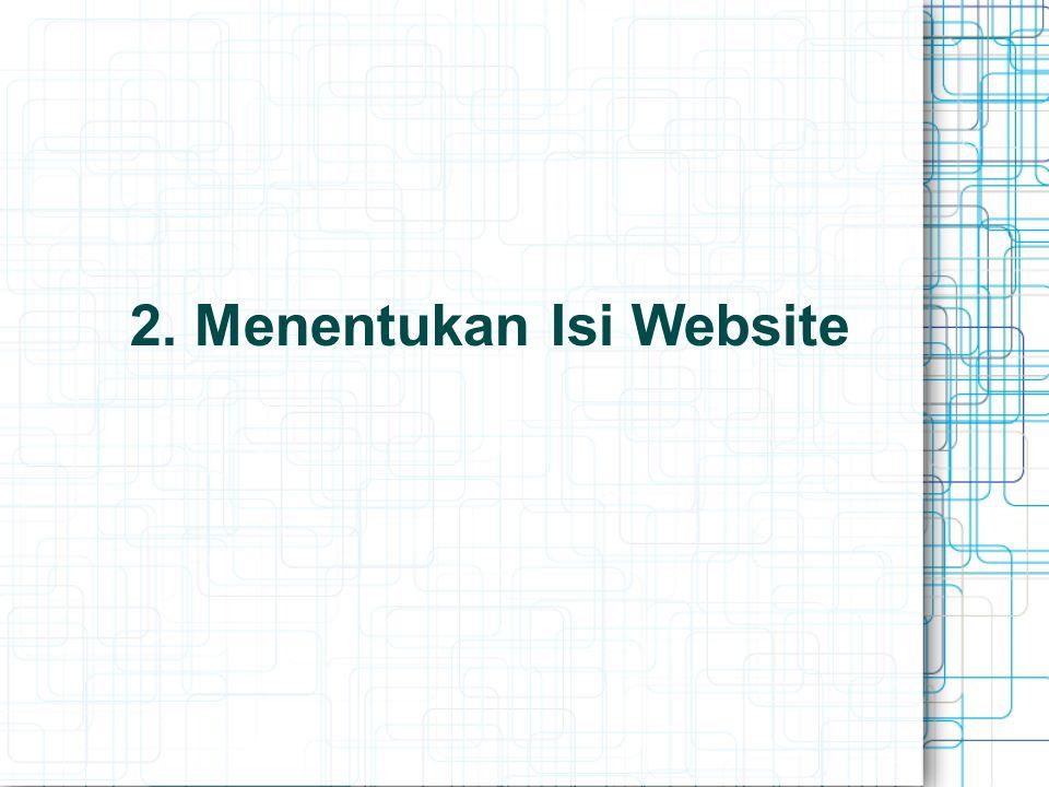 2. Menentukan Isi Website