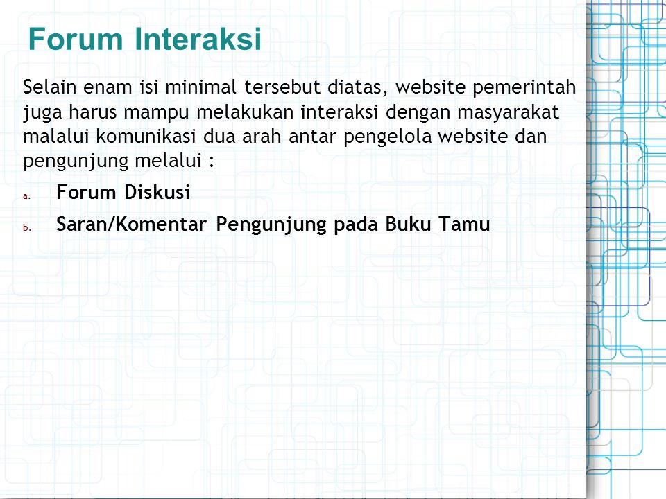 Forum Interaksi