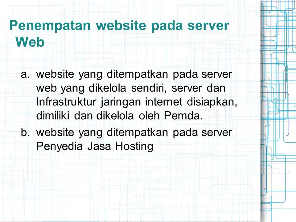 Penempatan website pada server Web