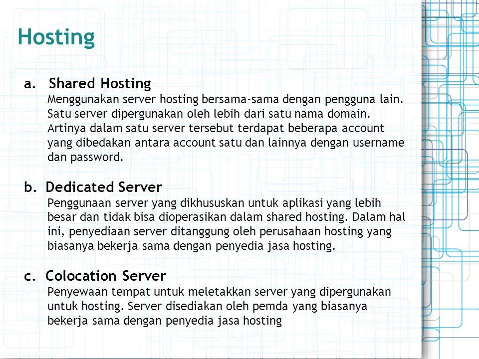 Hosting Shared Hosting Dedicated Server Colocation Server