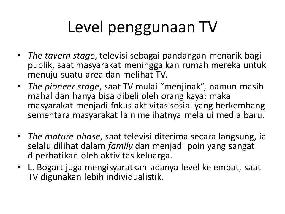 Level penggunaan TV