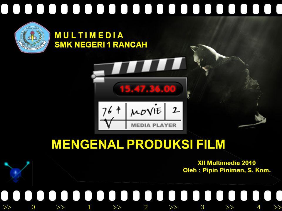 MENGENAL PRODUKSI FILM Oleh : Pipin Piniman, S. Kom.