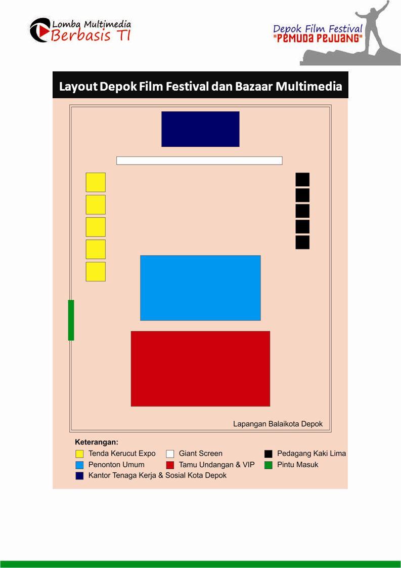 Layout Depok Film Festival dan Bazaar Multimedia