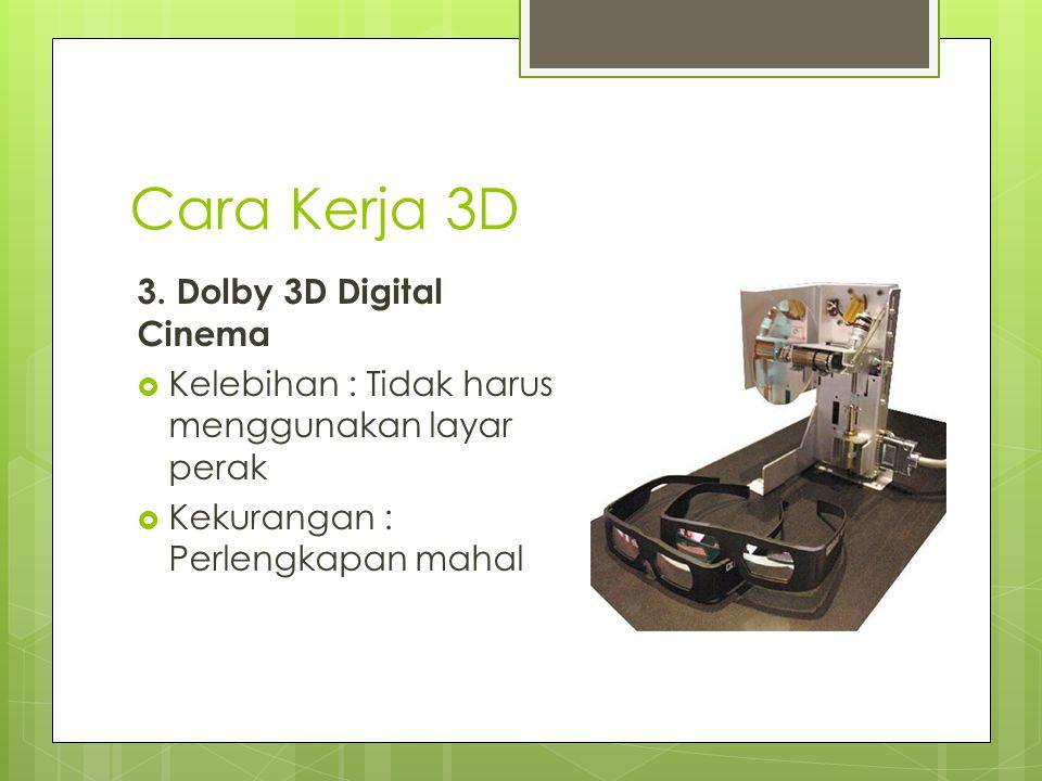 Cara Kerja 3D 3. Dolby 3D Digital Cinema