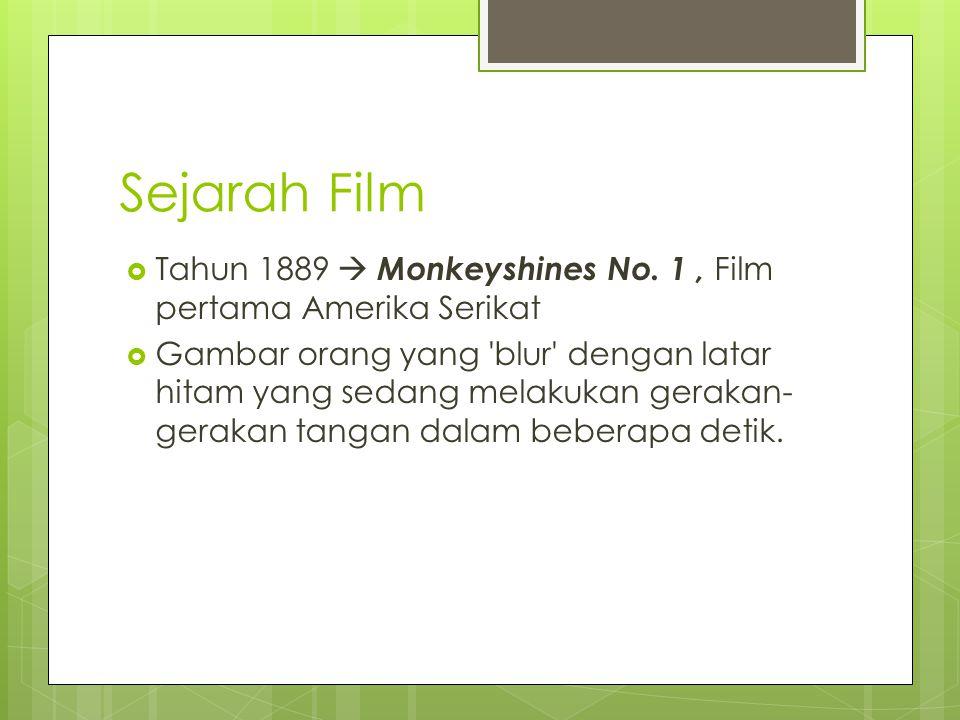 Sejarah Film Tahun 1889  Monkeyshines No. 1 , Film pertama Amerika Serikat.