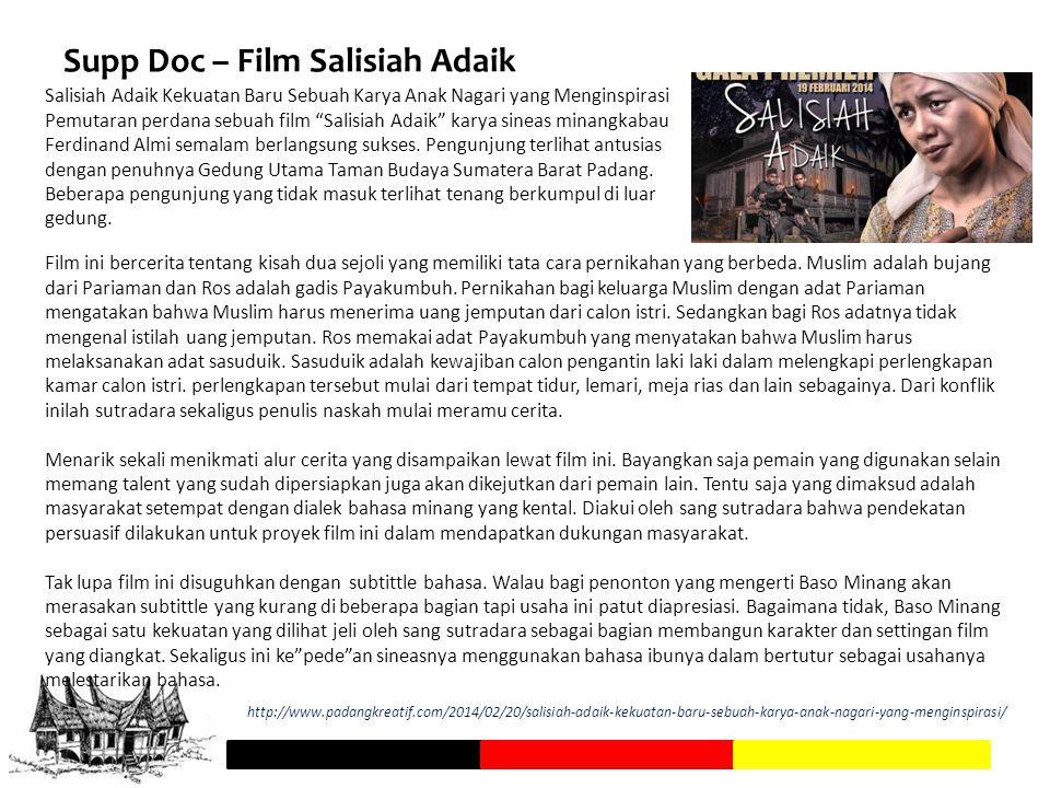 Supp Doc – Film Salisiah Adaik