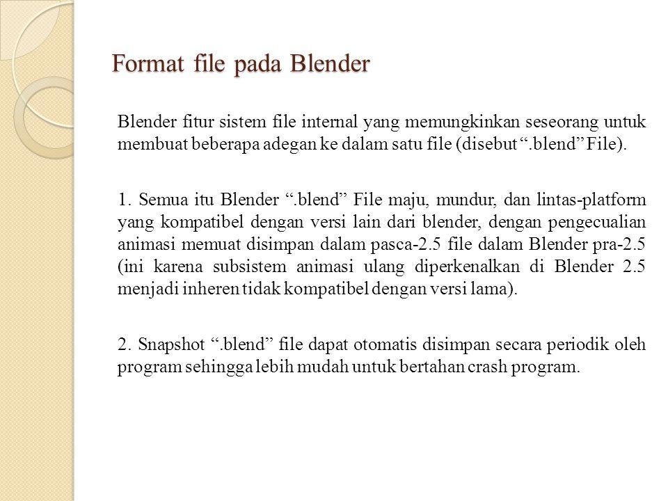 Format file pada Blender
