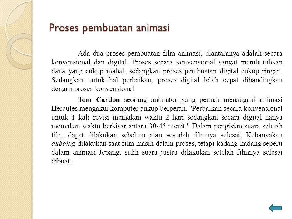 Proses pembuatan animasi