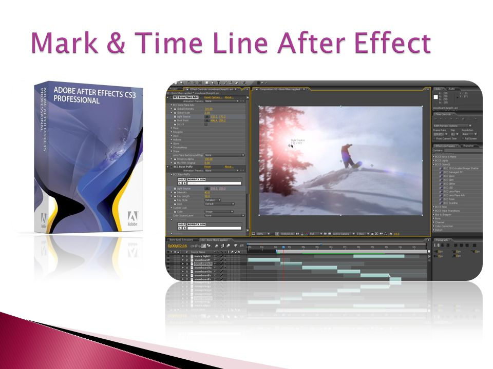 Mark & Time Line After Effect