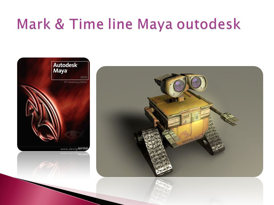 Mark & Time line Maya outodesk