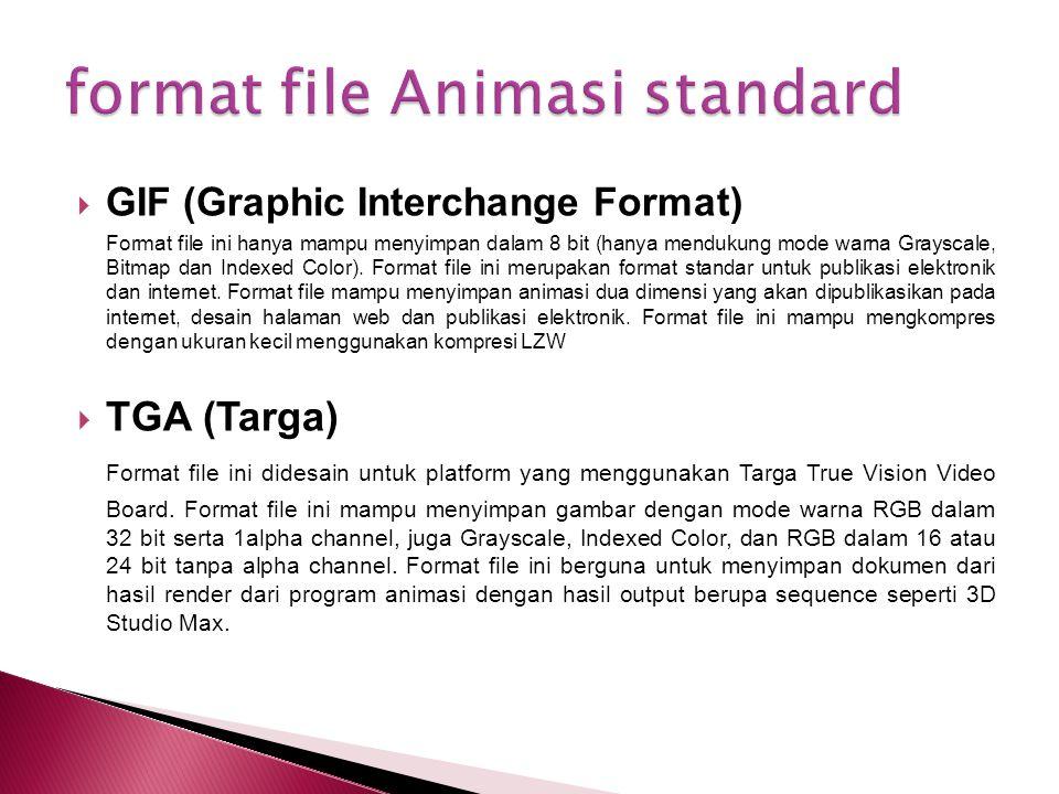 format file Animasi standard