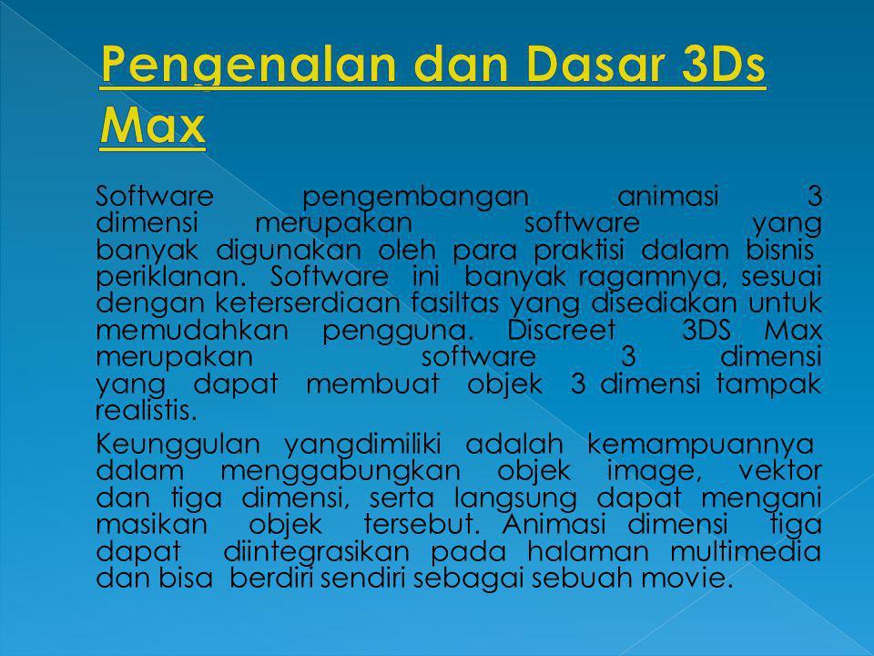 Pengenalan dan Dasar 3Ds Max