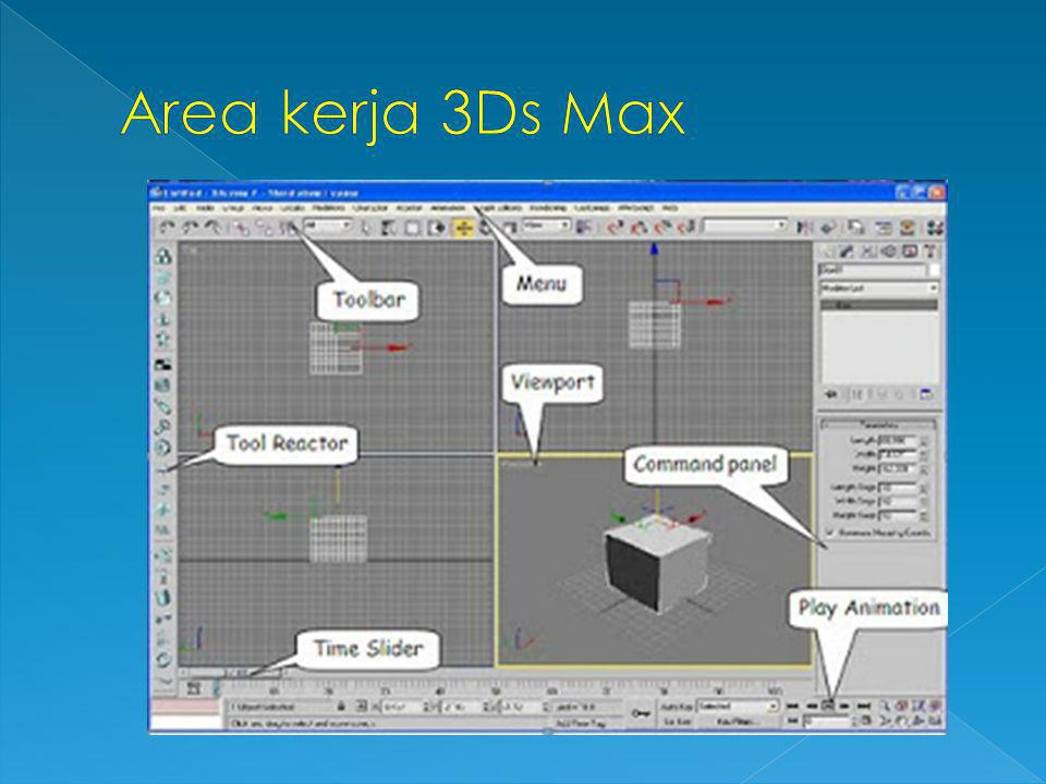 Area kerja 3Ds Max