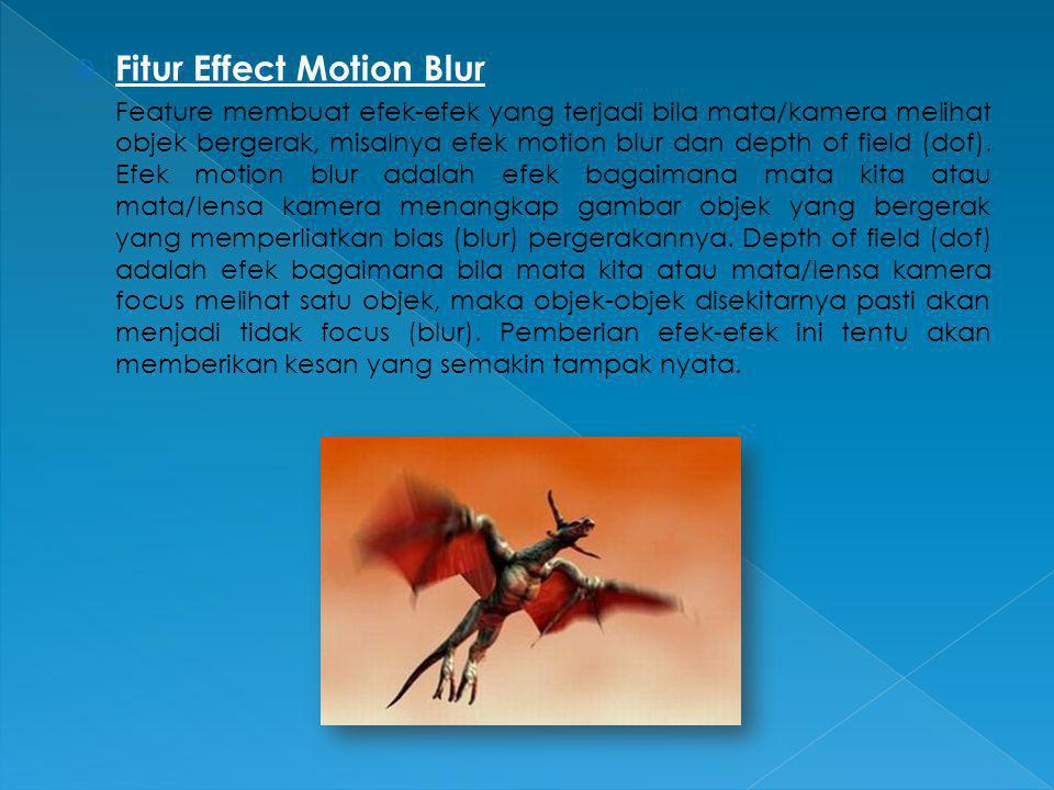 Fitur Effect Motion Blur