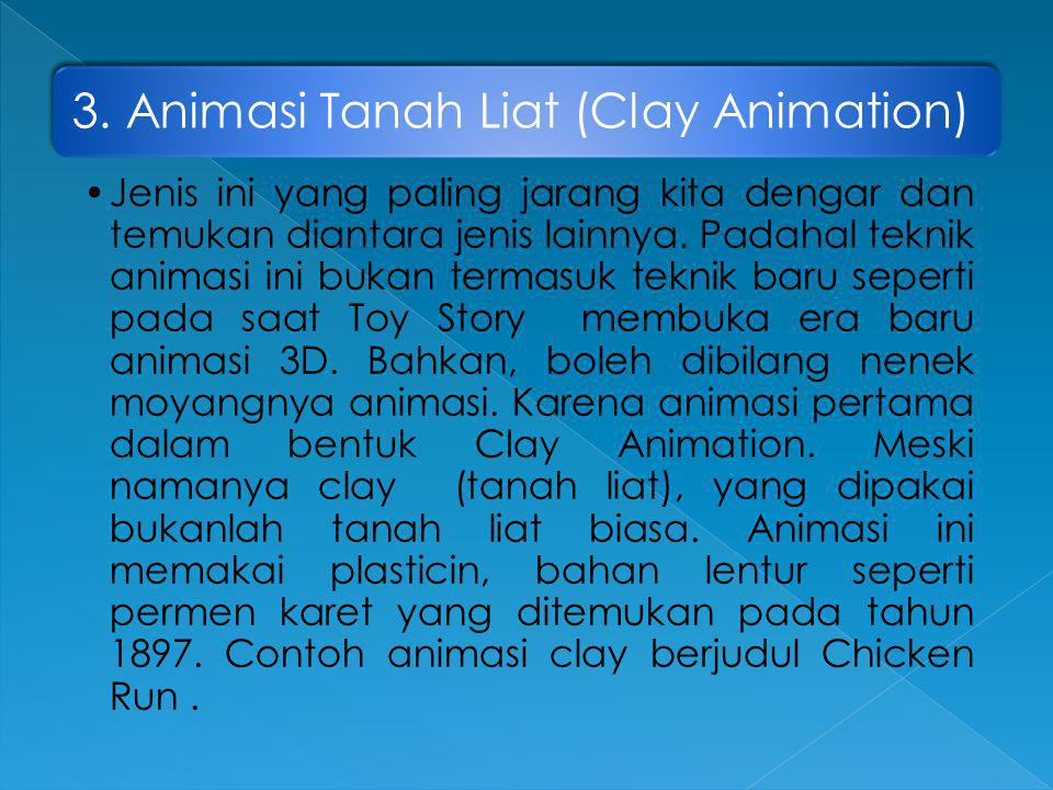 3. Animasi Tanah Liat (Clay Animation)