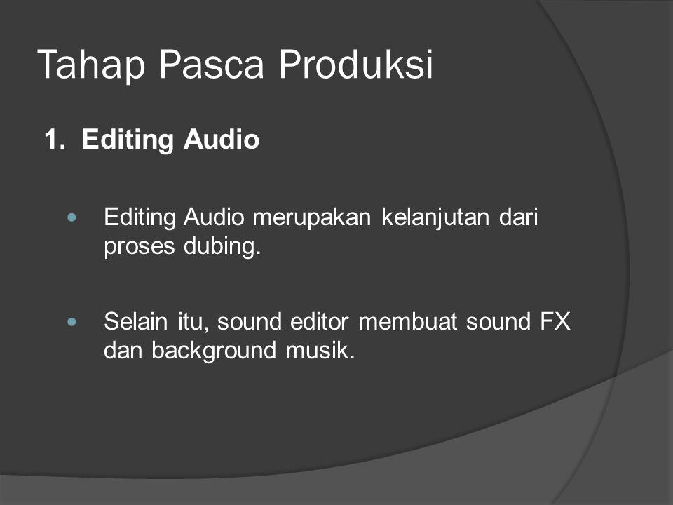 Tahap Pasca Produksi 1. Editing Audio
