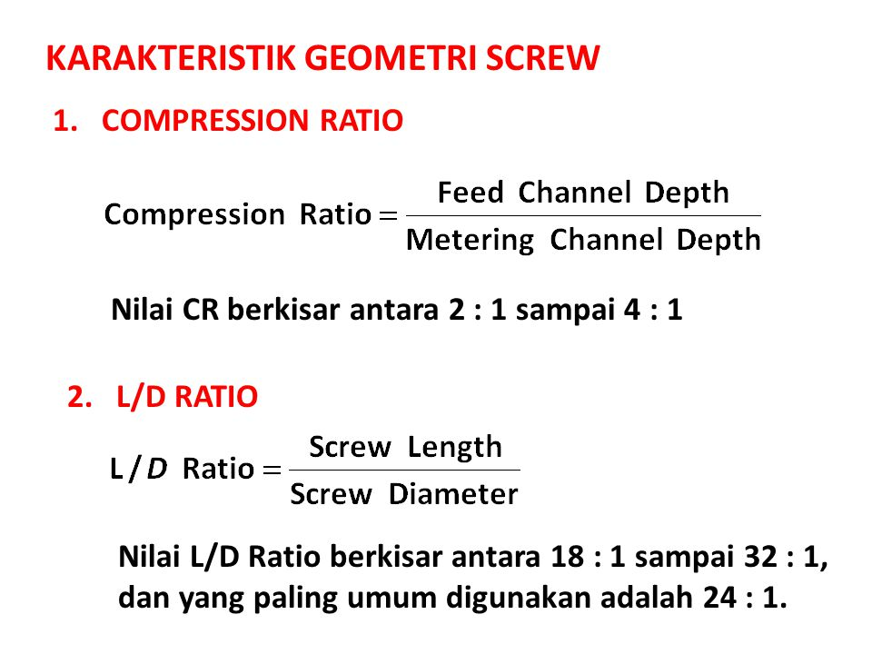 KARAKTERISTIK GEOMETRI SCREW