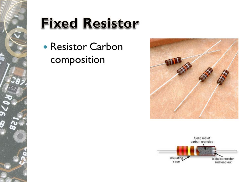 Fixed Resistor Resistor Carbon composition