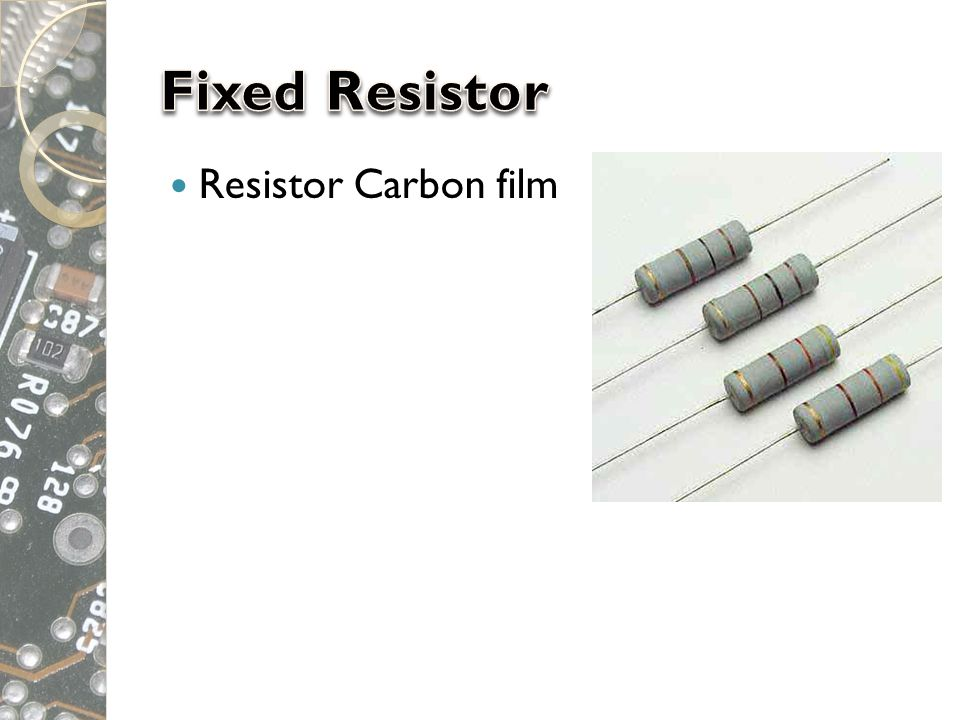 Fixed Resistor Resistor Carbon film