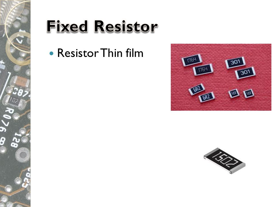 Fixed Resistor Resistor Thin film