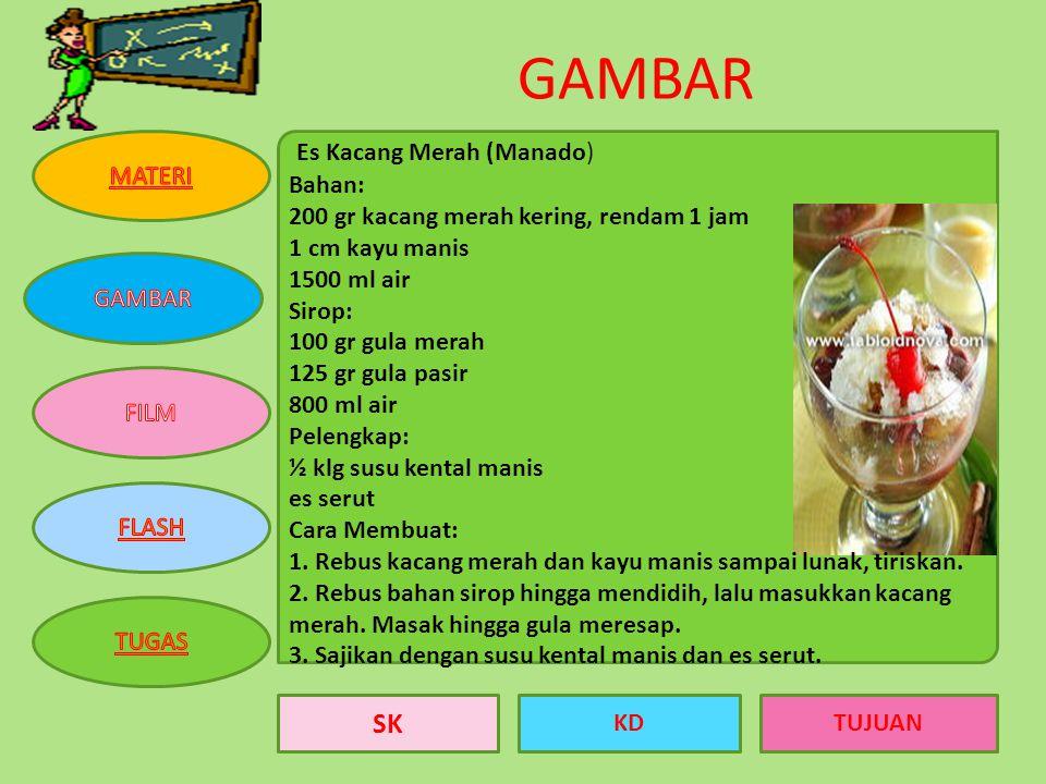 GAMBAR Es Kacang Merah (Manado)