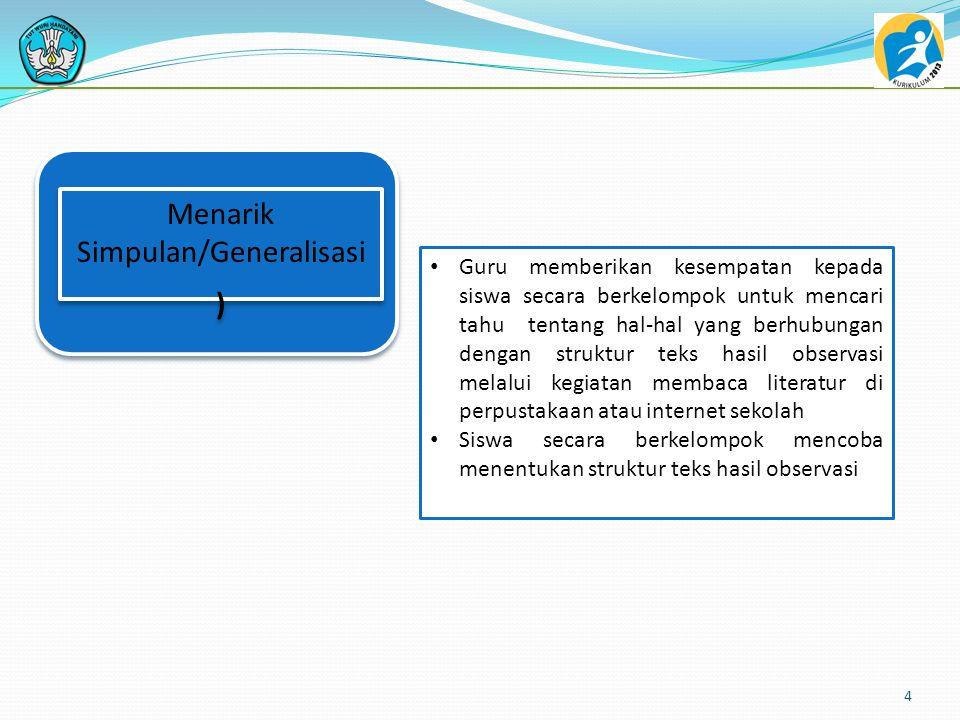 Menarik Simpulan/Generalisasi