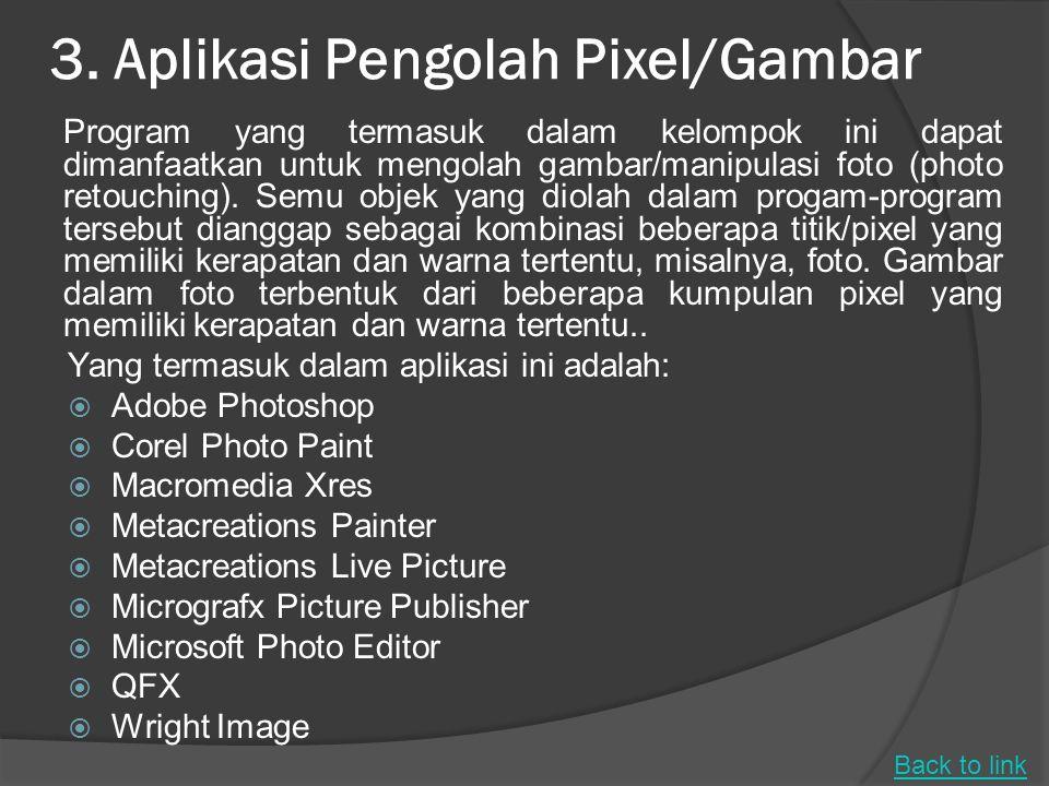 3. Aplikasi Pengolah Pixel/Gambar