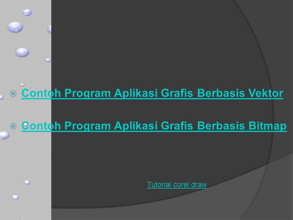 Contoh Program Aplikasi Grafis Berbasis Vektor