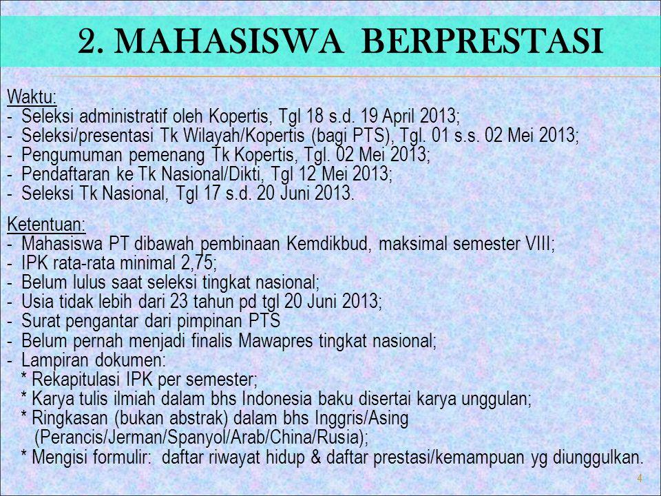 2. MAHASISWA BERPRESTASI
