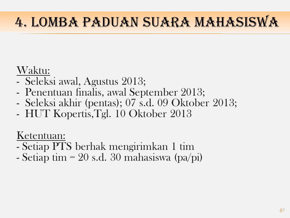 4. LOMBA PADUAN SUARA MAHASISWA
